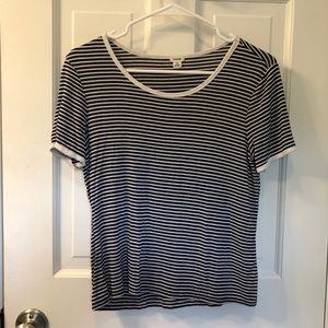 Garage Blue and White Striped T-shirt